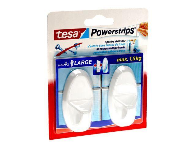 tesa® Powerstrip hakentesa Large ovaal wit/pk2