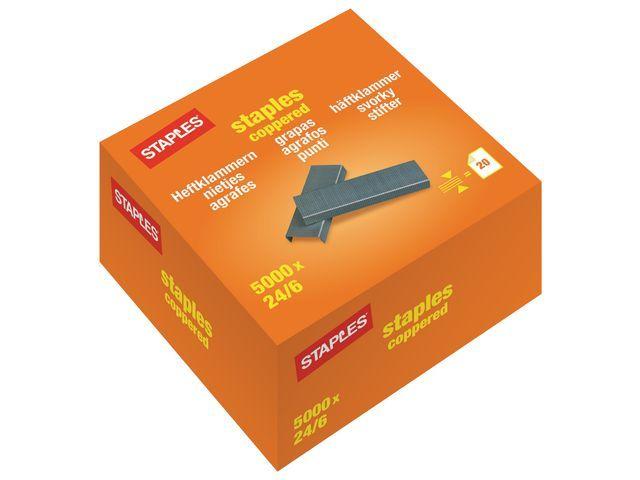 Staples Nieten SPLS OfficeSt.24/6 koper/d20x1000