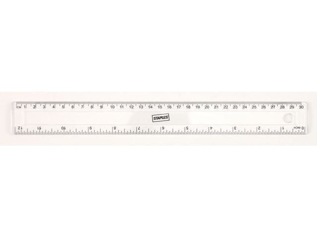 Staples Liniaal SPLS 300 mm transparant