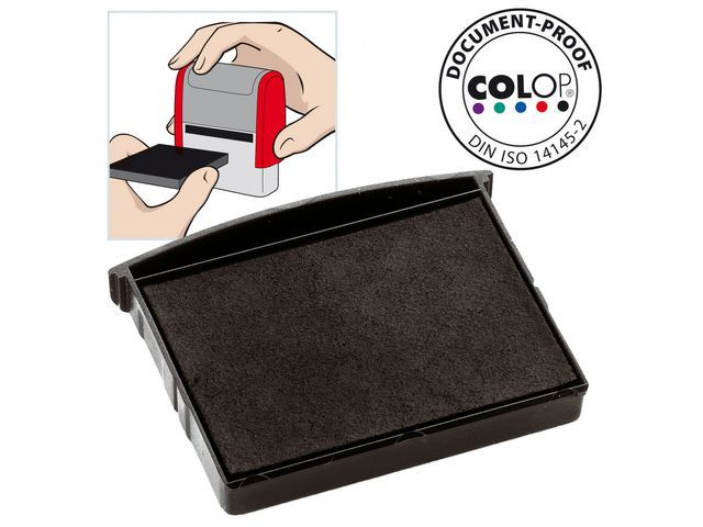 Colop Inktkussen Colop E/2300 zwart/pak 2