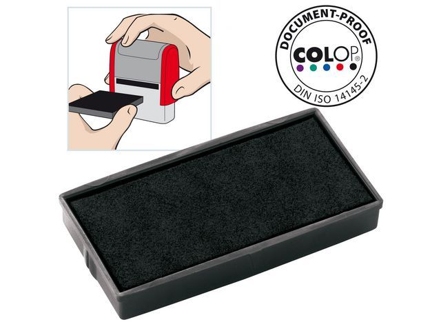Colop Inktkussen Colop E/30 zwart/pak 2