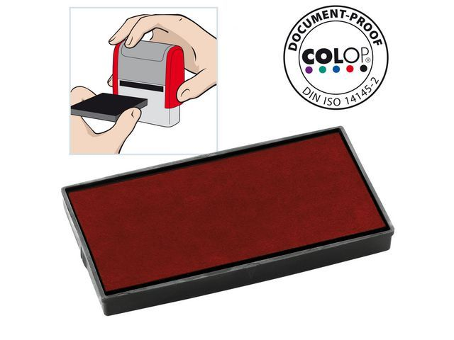 Colop Inktkussen Colop E/50 rood/pak 2