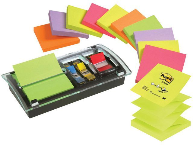 Post-it® Dispenser Post-It Z-note + Index acryl