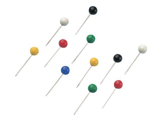 Staples Speld ronde knop SPLS assorti/doos 100