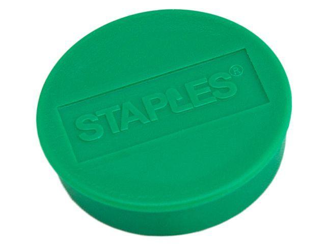 Staples Magneet SPLS 35 mm groen/pak 10