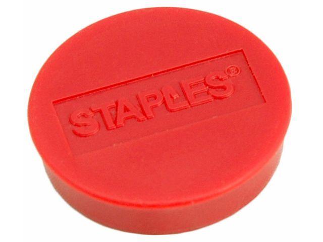 Staples Magneet SPLS 30 mm rood/doos 10