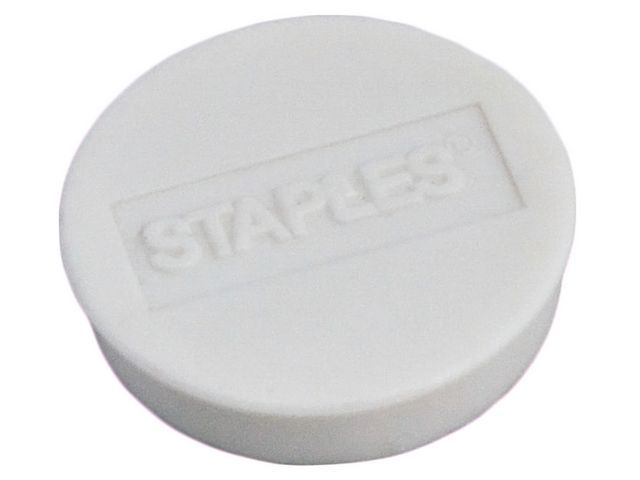 Staples Magneet SPLS 30 mm wit/doos 10