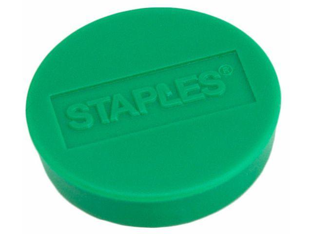 Staples Magneet SPLS 10 mm groen/doos 10