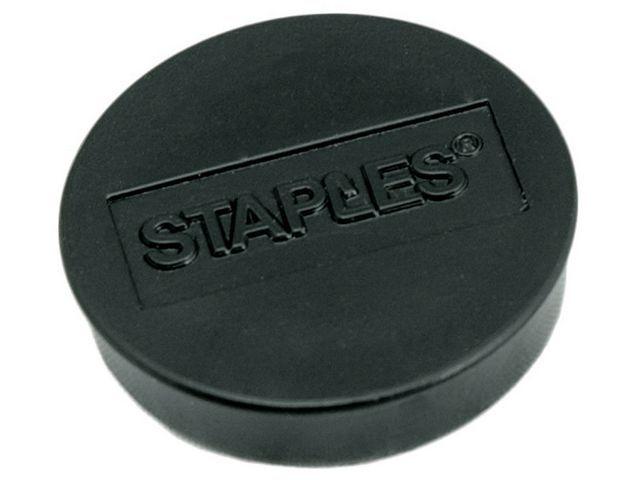 Staples Magneet SPLS 10 mm zwart/doos 10
