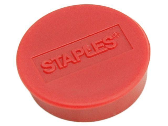 Staples Magneet SPLS 25 mm rood/doos 10