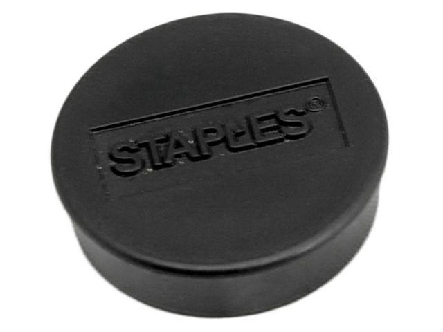 Staples Magneet SPLS 25 mm zwart/doos 10