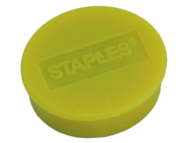 Staples Magneet SPLS 25 mm geel/doos 10