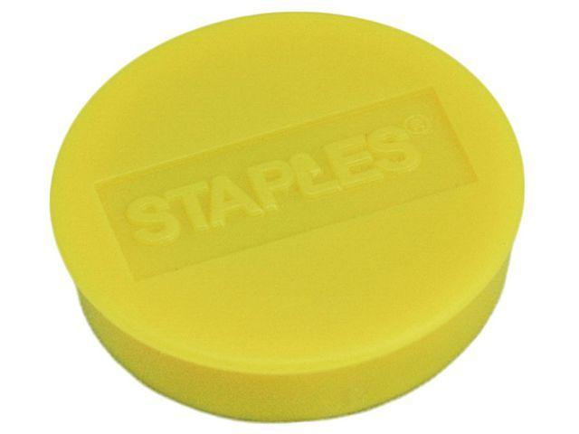 Staples Magneet SPLS 30 mm geel/doos 10
