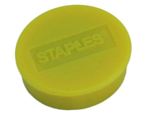 Staples Magneet SPLS 35 mm geel/doos 10