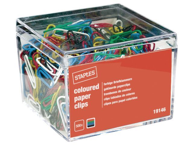 Staples Paperclip SPLS 26mm metaal assorti/ds500