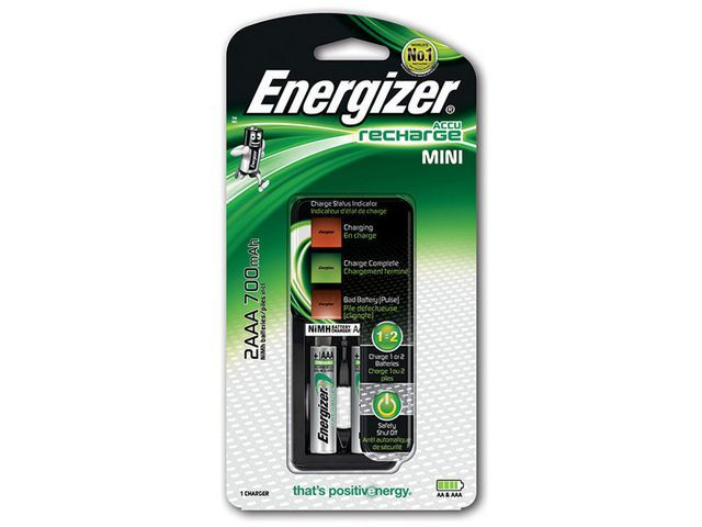 Energizer Batterijlader Energizer Mini +2xAAA 750m