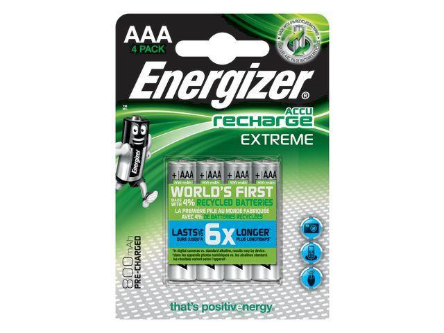 Energizer Batterij Energizer Oplaad 4xAAA 800mAh