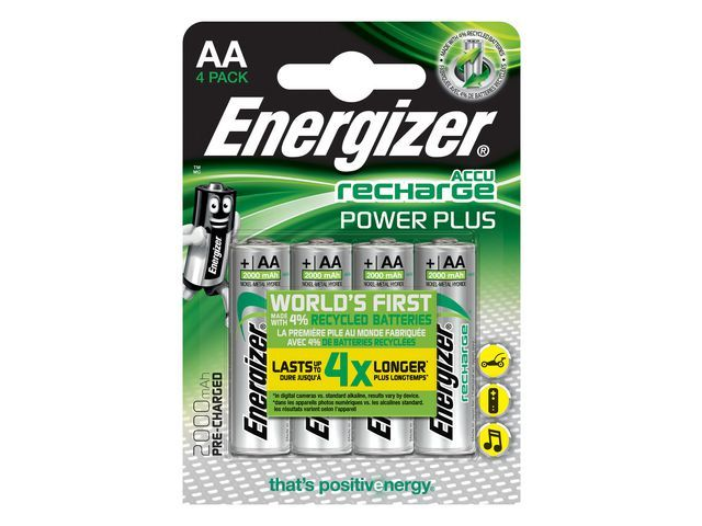 Energizer Batterij Energizer Oplaad 4xAA 2000mAh