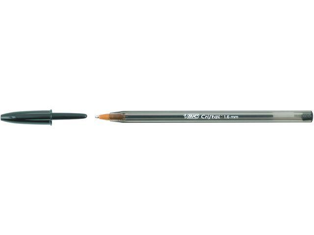 BiC BiC Balpen Cristal Large 1.6 mm. zwart (pak 50 stuks)