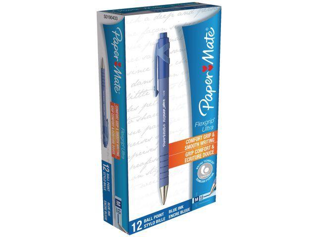 Paper Mate Balpen PM Flexgrip Ultra RT M blauw/ds12
