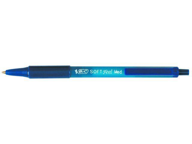 BiC Balpen BIC Soft Feel Clic Grip M bl/ds12