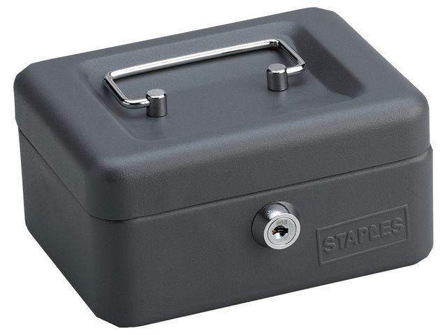 Staples Geldkist SPLS 75 x150 x115mm donkergr.
