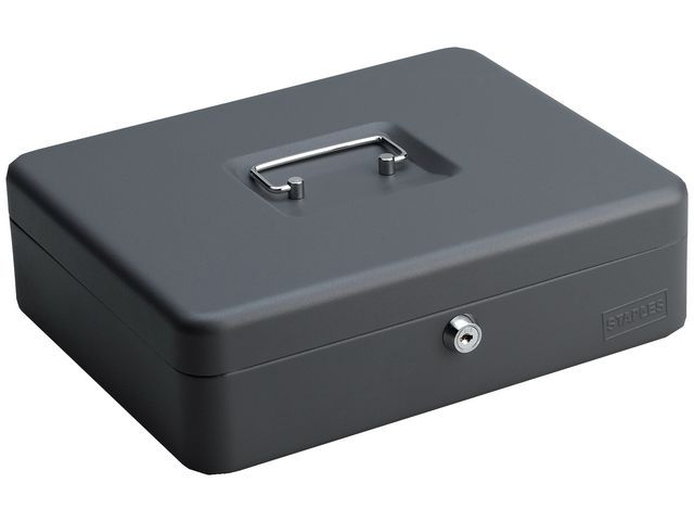 Staples Geldkist SPLS 90 x300 x240mm d. grijs