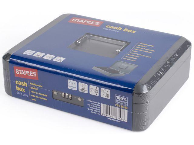 Staples Geldkist SPLS 300 x238 x90mm donkergr.