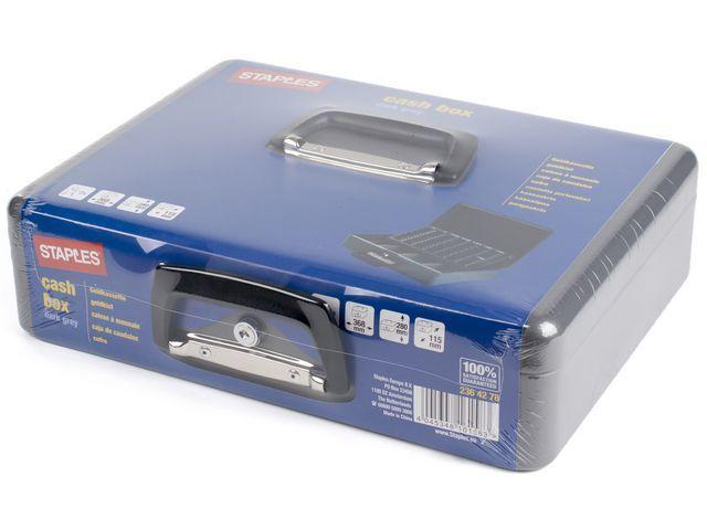 Staples Geldkist SPLS 365 x280 x115mm donkergr.