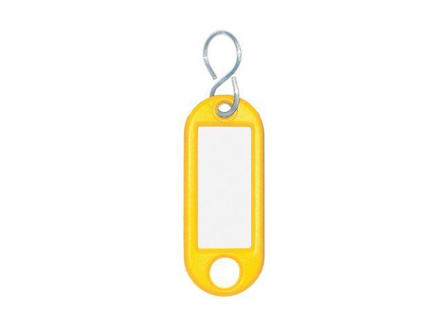 WEDO Sleutellabel 14x38mm geel/pk 10