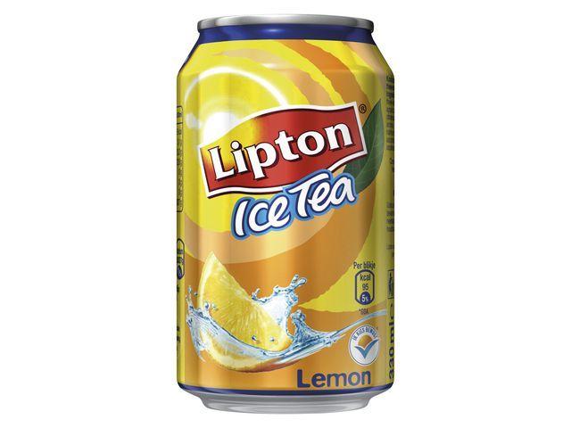 Lipton Frisdrank ice tea lemon 0.33L blik/pk24