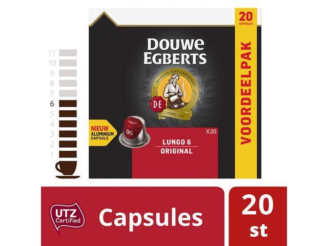 Douwe Egberts Koffie capsules DE lungo 6 org 20/ds10