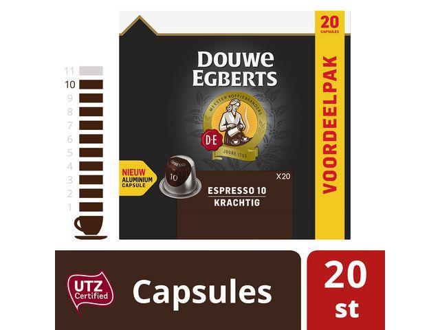 Douwe Egberts Koffie capsules DE espresso 10/pk20
