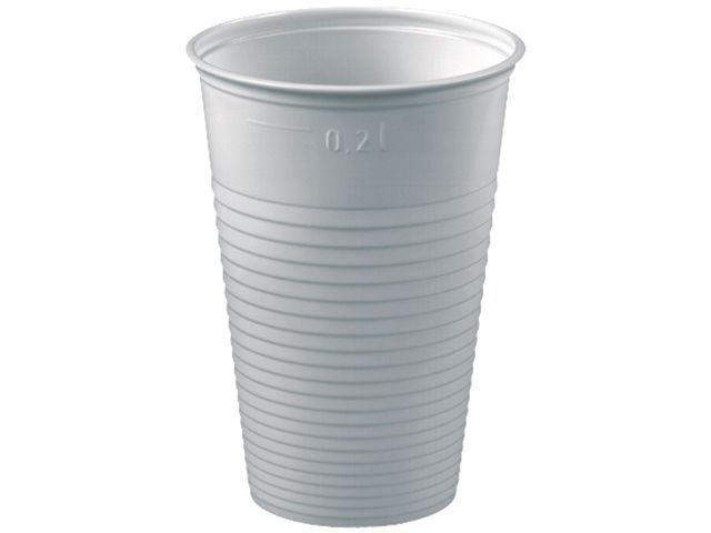 PAPSTAR Drinkbeker kunststof 200cc wit/pak100