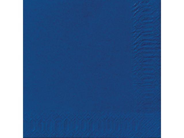 Duni Servet Duni 33x33cm 3lgs d. blauw/pk125