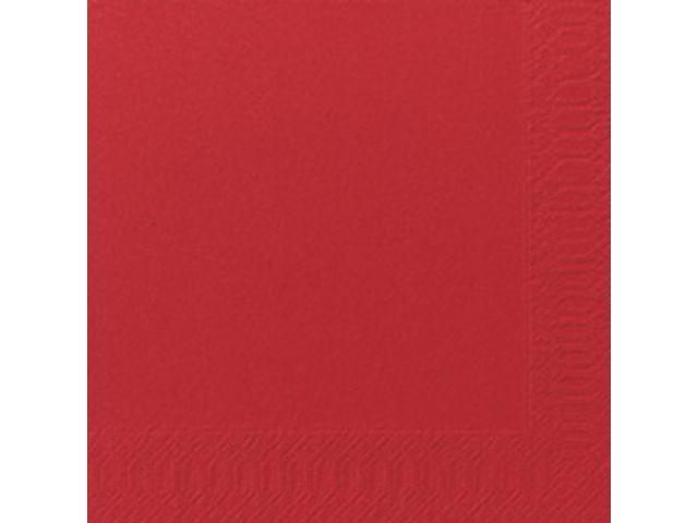 Duni Servet Duni 33x33cm 3lgs rood/pk125