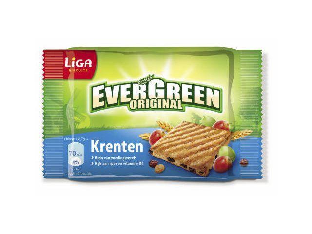 Evergreen Original krenten (pak 24 stuks)