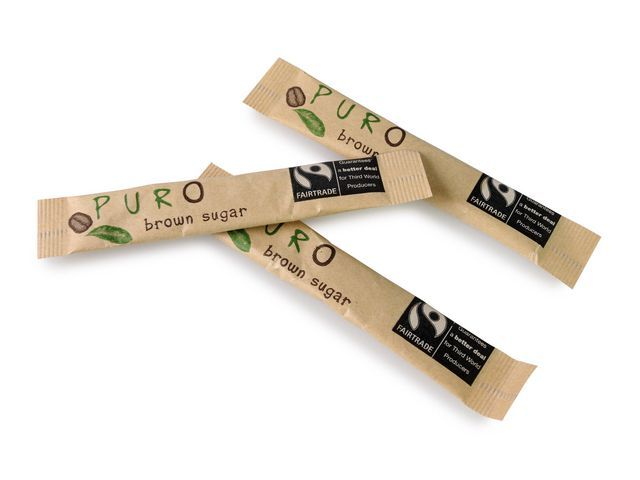 PURO Rietsuiker bruin sticks Puro/bx1000