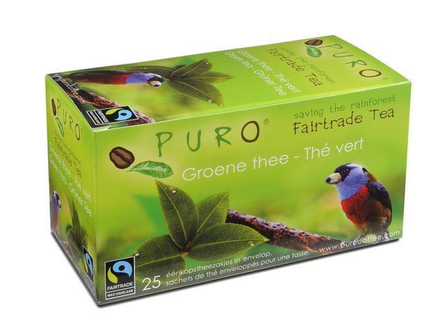 PURO Thee Puro fairtrade groene thee/bx 6x25