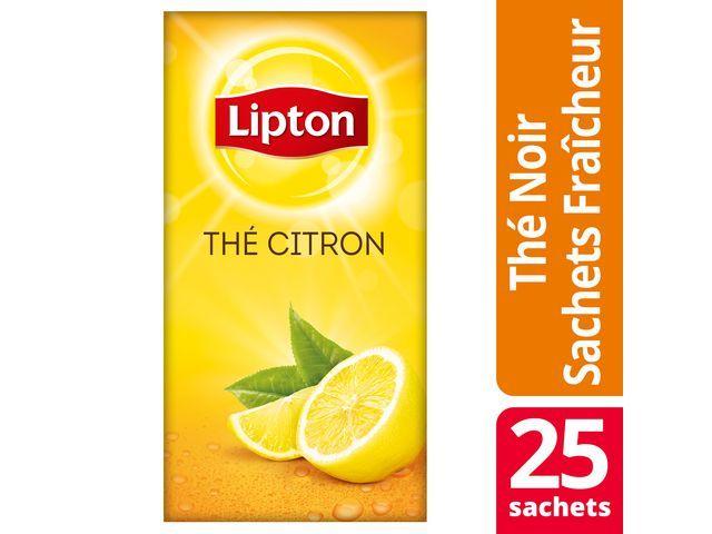 Lipton Theezakje Lipton 1.6g lemon/pak6x25