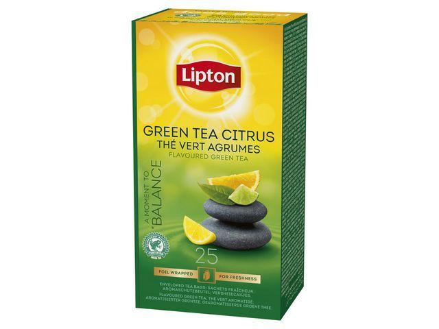 Lipton Theezakje Lipton groene th citrus/ds6x25