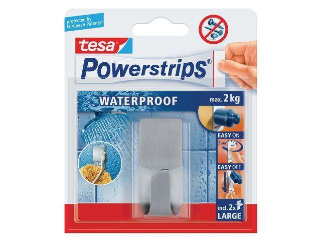 tesa® Powerstrip haak tesa waterproef zoom rvs