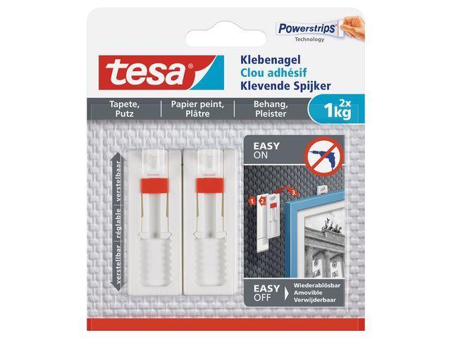 tesa® Verstelbare klevende spijker 1kg wt/pk2