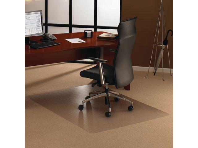 Floortex Cleartex® Stoelmat Floortex tapijt 120x90cm trans
