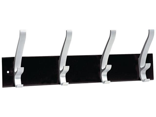 Unilux Kapstok Unilux Cypres 4 hangers zw/zilv