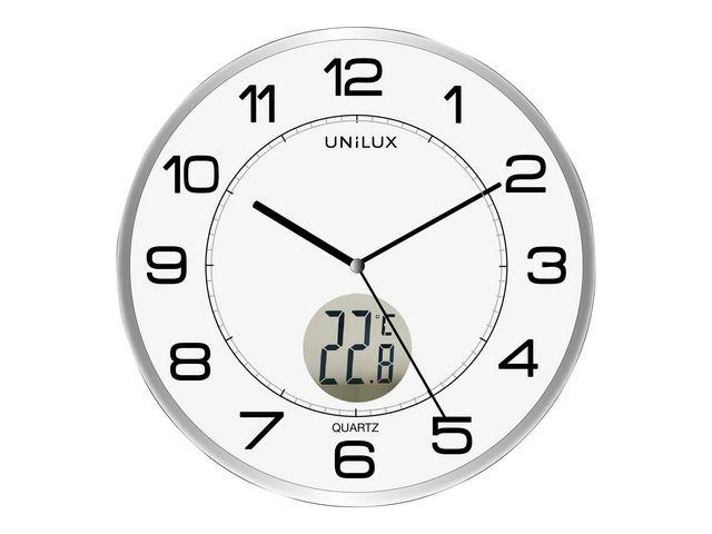 Unilux Klok Unilux Tempus rond 30.5cm zilver