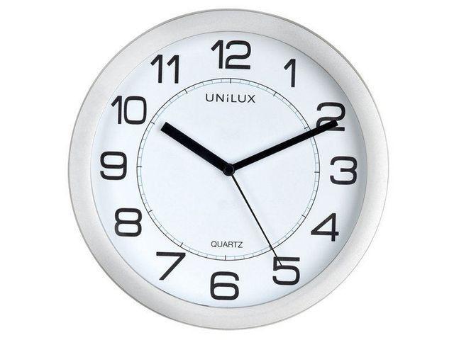 Unilux Klok Unilux Attraction rond 22cm grijs