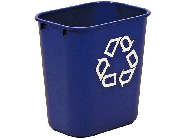 Rubbermaid Commercial Products Rubbermaid Commercial Products Vierkante afvalbak 12.9 l. blauw