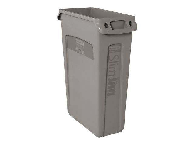 Rubbermaid Commercial Products Rubbermaid Commercial Products Slim Jim afvalbak. 87 liter. grijs