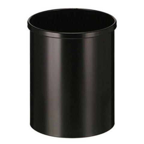 V-PART Papierbak 15l metaal zwart
